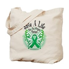 Organ Donor Save A Life Butte Tote Bag
