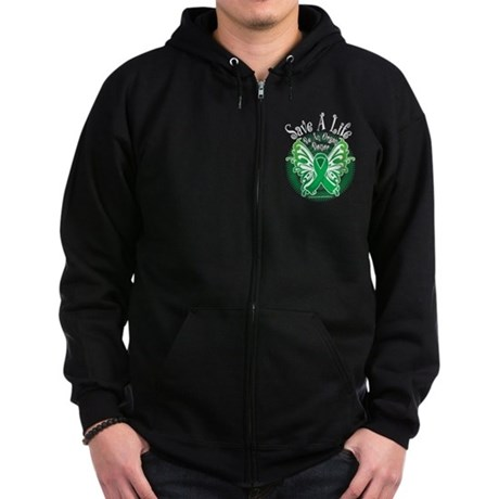 Organ Donor Save A Life Butte Zip Hoodie (dark)