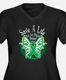 Organ Donor Save A Life Butte Women's Plus Size V-