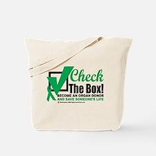 Organ Donor Check The Box Tote Bag