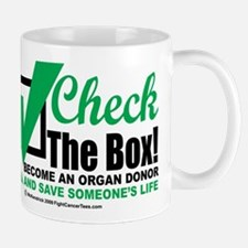 Organ Donor Check The Box Mug