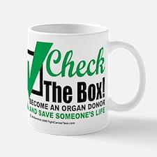 Organ Donor Check The Box Small Mugs