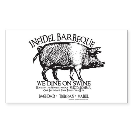 Infidel Barbeque Sticker (Rectangle 10 pk)