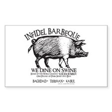 Infidel Barbeque Decal