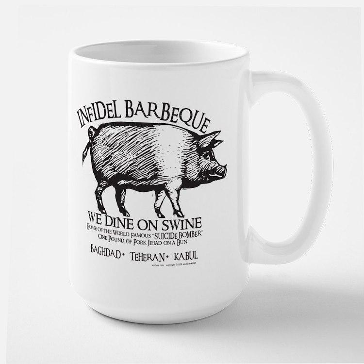 Infidel Barbeque Large Mug