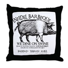 Infidel Barbeque Throw Pillow