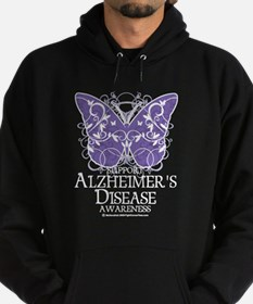 Alzhimers Butterfly 4 Hoodie