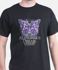 Alzhimers Butterfly 4 T-Shirt