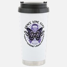 Alzheimers Peace Love Cure Tr Travel Mug