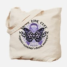 Alzheimers Peace Love Cure Tr Tote Bag