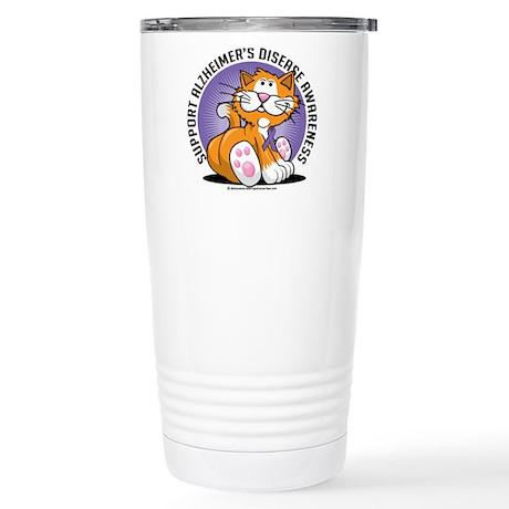 Alzheimers Cat Stainless Steel Travel Mug
