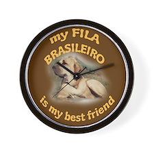 Best Friend Fila Brasileiro Wall Clock
