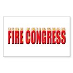 Fire Congress Sticker (Rectangle 10 pk)