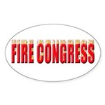 Fire Congress Sticker (Oval 10 pk)