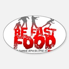 Unique Zombies hate fast food Decal