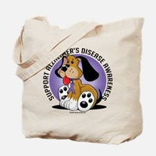 Alzheimers Dog Tote Bag