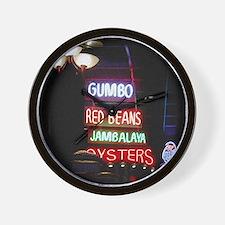 Neon Gumbo Wall Clock