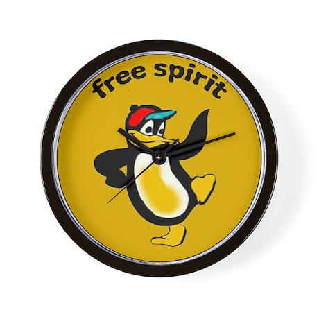 Penguin Free Spirit Wall Clock