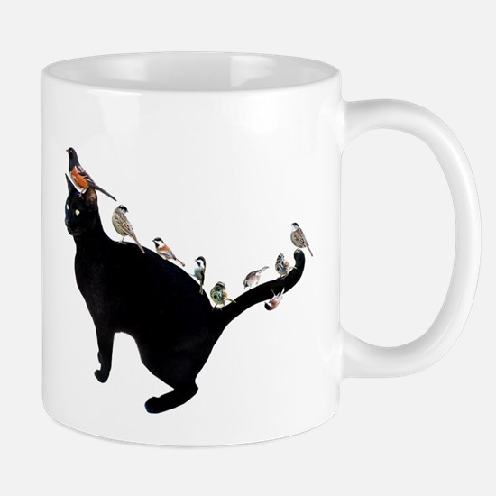 Birds on Cat Mug