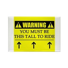WARNING: This Tall Rectangle Magnet