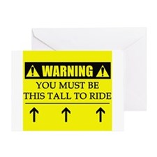 WARNING: This Tall Greeting Card