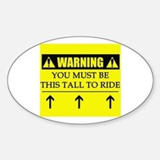 WARNING: This Tall Sticker (Oval)