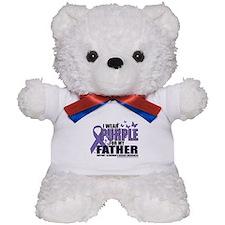 Alzheimers Purple For My Fath Teddy Bear