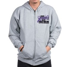 Alzheimers Purple For My Fath Zip Hoodie