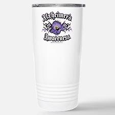 Alzheimers Tribal Violet Travel Mug