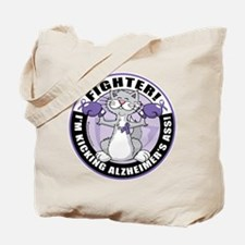 Alzheimer's Cat Fighter Tote Bag