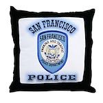 San Francisco Police Traffic Throw Pillow