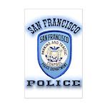 San Francisco Police Traffic Mini Poster Print