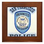 San Francisco Police Traffic Framed Tile
