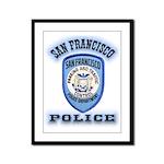 San Francisco Police Traffic Framed Panel Print
