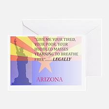 Pro Arizona with Statue Of Li Greeting Card
