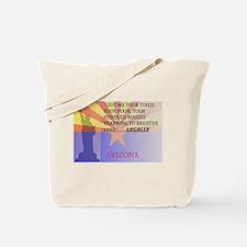 Pro Arizona with Statue Of Li Tote Bag
