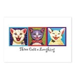 Three Laughing Cats Postcards (Package of 8)