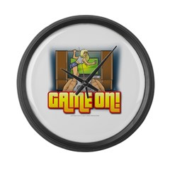 Game On Large Wall Clock