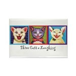 Three Laughing Cats Rectangle Magnet (10 pack)