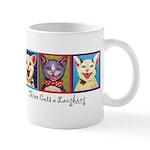 Three Laughing Cats Mug