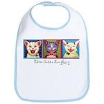 Three Laughing Cats Bib