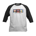 Three Laughing Cats Kids Baseball Jersey
