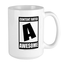 Content Rated Awesome Mug