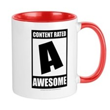 Content Rated Awesome Small Mug