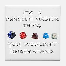 Dungeon Master Thing Tile Coaster