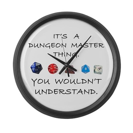 Dungeon Master Thing Large Wall Clock