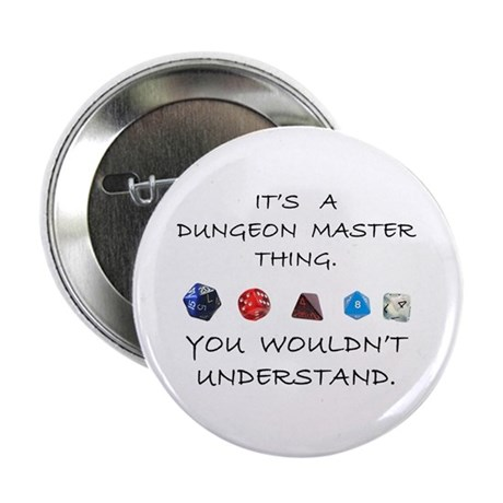 """Dungeon Master Thing 2.25"""" Button (100 pack)"""