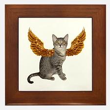 Cat Gold Wing Framed Tile