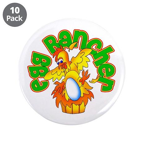 "Egg Rancher 3.5"" Button (10 pack)"