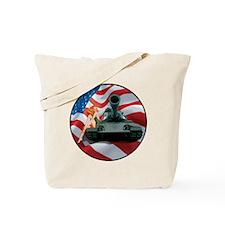 Tank Pinup Girl Tote Bag